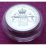1989 PIEDFORT CLAIM OF RIGHTS SILVER PROOF TWO POUND COIN