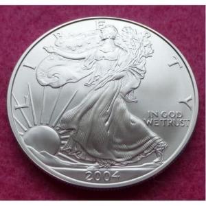 2004 SILVER EAGLE 1OZ COIN