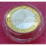 2006 BRUNEL - HIS ACHIEVEMENT SILVER PIEDFORT TWO POUND PROOF COIN