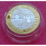 2007 ACT OF THE UNION SILVER PIEDFORT TWO POUND PROOF COIN