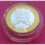 2008 BEIJING HANDOVER TO LONDON SILVER PIEDFORT TWO POUND PROOF COIN