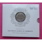 2013 PRINCE GEORGE CHRISTENING £5 PACK