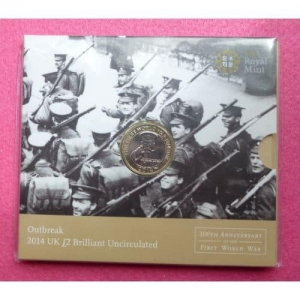 2014 FIRST WORLD WAR 1OOTH ANNIVERSARY £2 PACK