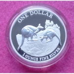 2014 AUSTRALIA FIRST SIGHTING $1 SILVER PROOF COIN