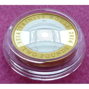2014 PIEDFORT TRINITY HOUSE SILVER TWO POUND PROOF COIN