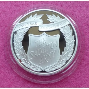 2015 ALDERNEY SALVATION ARMY £5 SILVER PROOF COIN