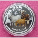2015 AUSTRALIA YEAR OF THE GOAT COLOURED ONE DOLLAR PROOF COIN