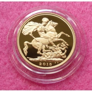2015 FIFTH PORTRAIT GOLD  FULL SOVEREIGN PROOF COIN (5)