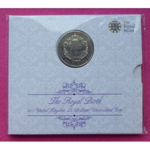 2015 ROYAL BIRTH PRINCESS CHARLOTTE FIVE POUND COIN