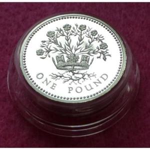 1986 PIEDFORT IRISH FLAX £1 SILVER PROOF COIN