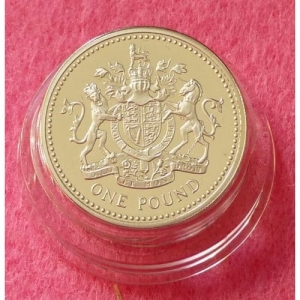 1993 PIEDFORT ROYAL ARMS £1 SILVER PROOF COIN (4)