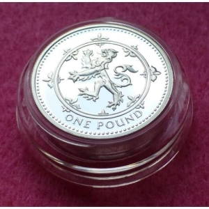 1999 PIEDFORT RAMPANT LION £1 SILVER PROOF COIN
