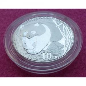 2001 CHINA SILVER PANDA  10 YUAN BU COIN