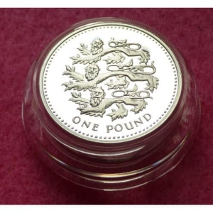 2002 PIEDFORT THREE LIONS £1 SILVER PROOF COIN