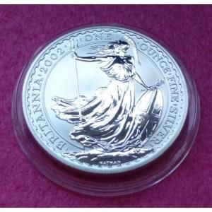 2002 SILVER BRITANNIA £2 BU COIN