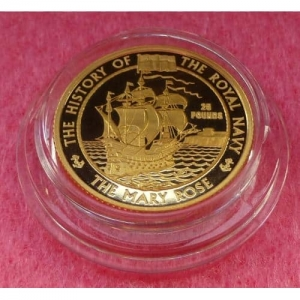 2003 ALDERNEY GOLD MARY ROSE PROOF COIN