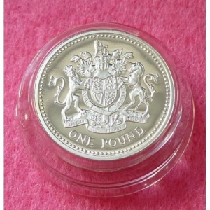 2003 PIEDFORT ROYAL ARMS £1 SILVER PROOF COIN (4)