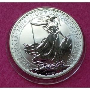 2004 SILVER BRITANNIA £2 BU COIN (5)