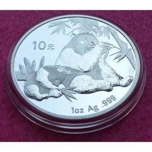 2007 CHINA SILVER PANDA  10 YUAN BU COIN (3)