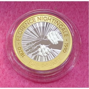 2010 PIEDFORT NIGHTINGALE £2 SILVER PROOF COIN