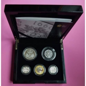 2010 ROYAL MINT 5 SILVER PROOF COIN SET