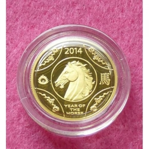 2014 AUSTRALIA GOLD LUNAR HORSE $10 PROOF COIN