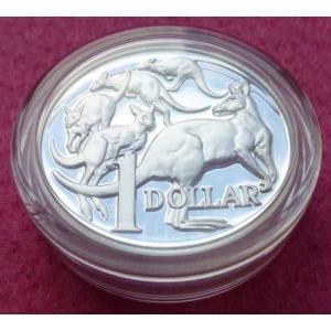 2014 AUSTRALIA SILVER KANGAROO HIGH RELIEF $1 PROOF COIN