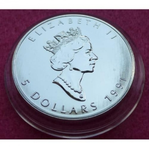 1991 CANADA SILVER MAPLE BU COIN (3)