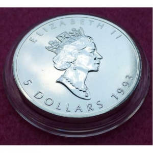 1993 CANADA SILVER MAPLE COIN