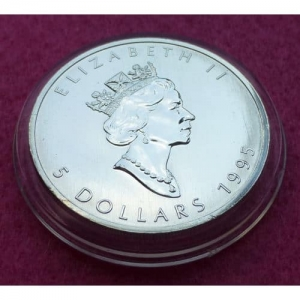 1995 CANADA SILVER MAPLE COIN