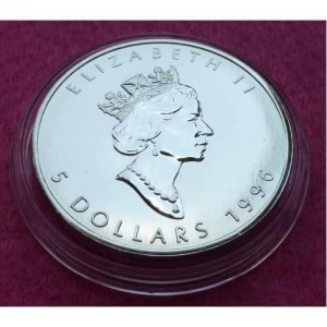 1996 CANADA SILVER MAPLE COIN