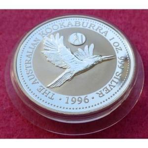 1996 SILVER KOOKABURRA GREECE PRIVY $1 COIN