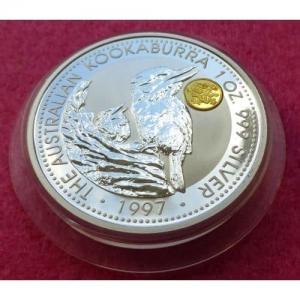 1997 SILVER KOOKABURRA DRAGON PRIVY $1 COIN