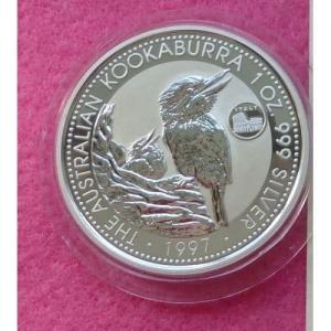 1997 SILVER KOOKABURRA ITALY PRIVY $1 COIN (2)