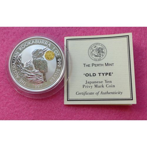 1997 Australia Kookaburra Japanese Yen Privy Mark One
