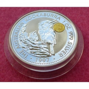 1997 SILVER KOOKABURRA JAPANESE YEN PRIVY $1 COIN