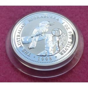 1998 SILVER KOOKABURRA AUSTRIA PRIVY $1 COIN (2)