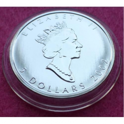1997 Canada Maple Leaf 5 Five Dollar Silver Brilliant