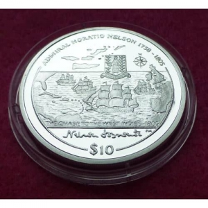 2005 VIRGIN ISLANDS CHASE TO THE WEST INDIES  $10 SILVER PROOF COIN