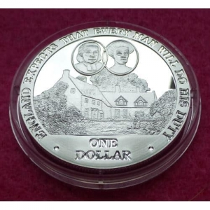 2007 COOK ISLANDS  NELSON'S BIRTHPLACE  $1 SILVER PROOF COIN