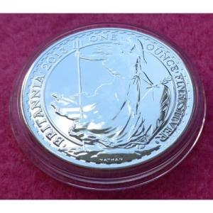 2013 SILVER BRITANNIA £2 BU COIN