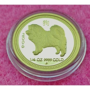 2006 AUSTRALIA GOLD LUNAR YEAR OF THE DOG SERIES 1 $25 PROOF COIN