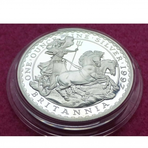 1997 BRITANNIA TWO POUND SILVER PROOF COIN
