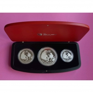 2016 AUSTRALIA SILVER LUNAR MONKEY 3 COIN PROOF SET