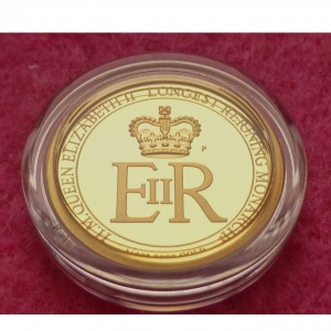 2015 AUSTRALIA GOLD LONGEST REIGNING MONARCH $25 PROOF COIN