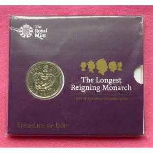 2015 LONGEST REIGNING MONARCH £5 BU PACK