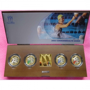 2002 PIEDFORT COMMOMONWEALTH GAMES SILVER COIN SET