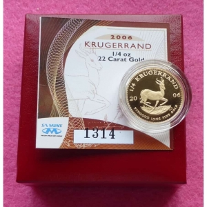 2006 GOLD KRUGERRAND QUARTER OZ PROOF COIN5