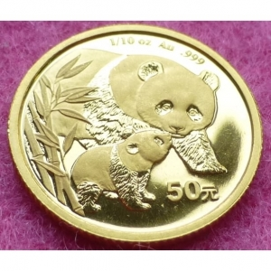 2004 CHINA GOLD PANDA 50 YUAN COIN