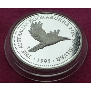 1995 KOOABURRA 2OZ SILVER PROOF COIN